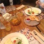 омлет, чай и хачапури