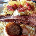 Eggs in a Basket with Bacon and Hash Browns