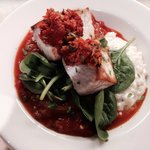 Swordfish with tomato Mediterranean stew