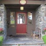 The front door welcomes you in.