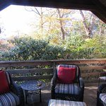 Private porch off of room