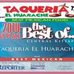 Award Given To Taqueria El Huarache.