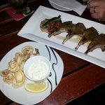 Squid and Lamb Tapas