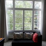 Large windows in the room