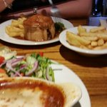 Steak and ale pie. Nice crusty pastry