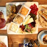 Scrumptious platter for two and toasted focaccia lunch
