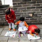 Painting at the Mutianyu Great Wall