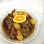 Borrego com batatas