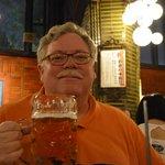 "Enjoying a 1.3 L ""German-style"" beer"