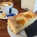 Latte and cake - delicious