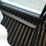 Wood slat to bar the door