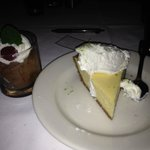 Mousse and key lime pie