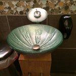 Women's restroom sink