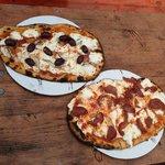 Individual pizzas at Truck Pizza Hudson NY