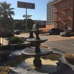 Cute little fountain out front
