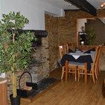 Lower restaurant fireplace