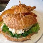 Joedan Pastry Puff chicken salad sandwich