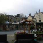 View from the outdoor sofa seating area - view of the Whaley Bridge Rail Station