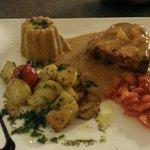 Pièce de veau tandori et sa crème d'ail