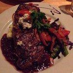 Steak- it was huge!