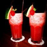 Fresh fruit watermelon cocktails.