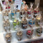 Cake in a jar, located in the food court.