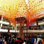 Mall decorated for festive season