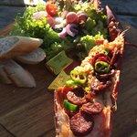 Lobster chorizo. Very tasty and reasonably priced
