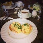Smoked Salmon & Scrambled Eggs on a toasted English Muffin