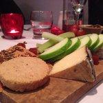 Board of local cheese, gooseberry chutney, fennel  crisp bread & oat cake.