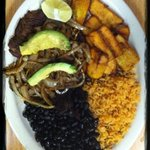 Black beans, rice, and friend plantains, warm comfort food