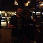 My bf with our best server on Gili T!!!