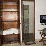 Bed room to bathroom entry @ room no 206 Akshay INN