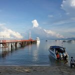 The pier and dive boat to Koh Tao
