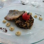 Fish with lentils