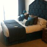 Massive bed in suite