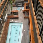 View on hot outdoor spa