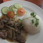 Beafsteak with rice