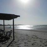 Barraca do hotel na praia