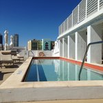 The gorgeous rooftop pool at Sense