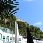 View of Vaduz Castle from the cafe patio