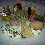 Dessert au chocolt menu dégustation