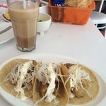 """Excellent taco with shrimp and """"mayocrema"""""""