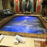 Heated Roman bath.