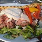 Panini sandwich with beef