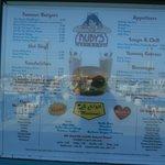 The menu borad outside