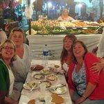 Eating at stall #1 at the Djemma el Fnaa
