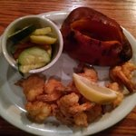 Southern Fried Butterfly Shrimp with Seasoned Veggies & NC Baked Sweet Potato