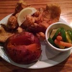 Gulf Coast Sea Fry with Seasoned Veggies & NC Baked Sweet Potato