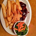 BBQ Chicken Breast with Fresh Veggies and Steak Fries